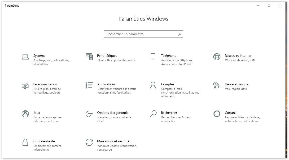 windows10-parametres