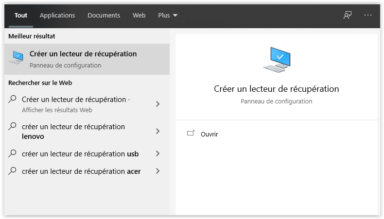 lecteur-recuperation-windows10