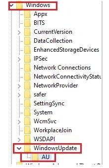 cle-registre-windows-update