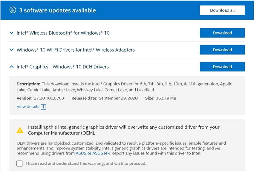 Intel-driver-updates