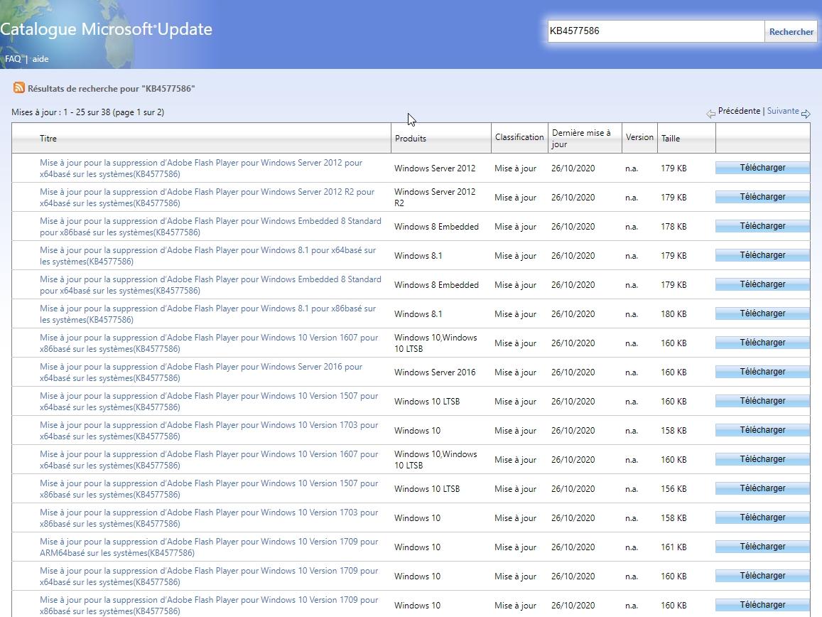 catalogue-microsoft-update