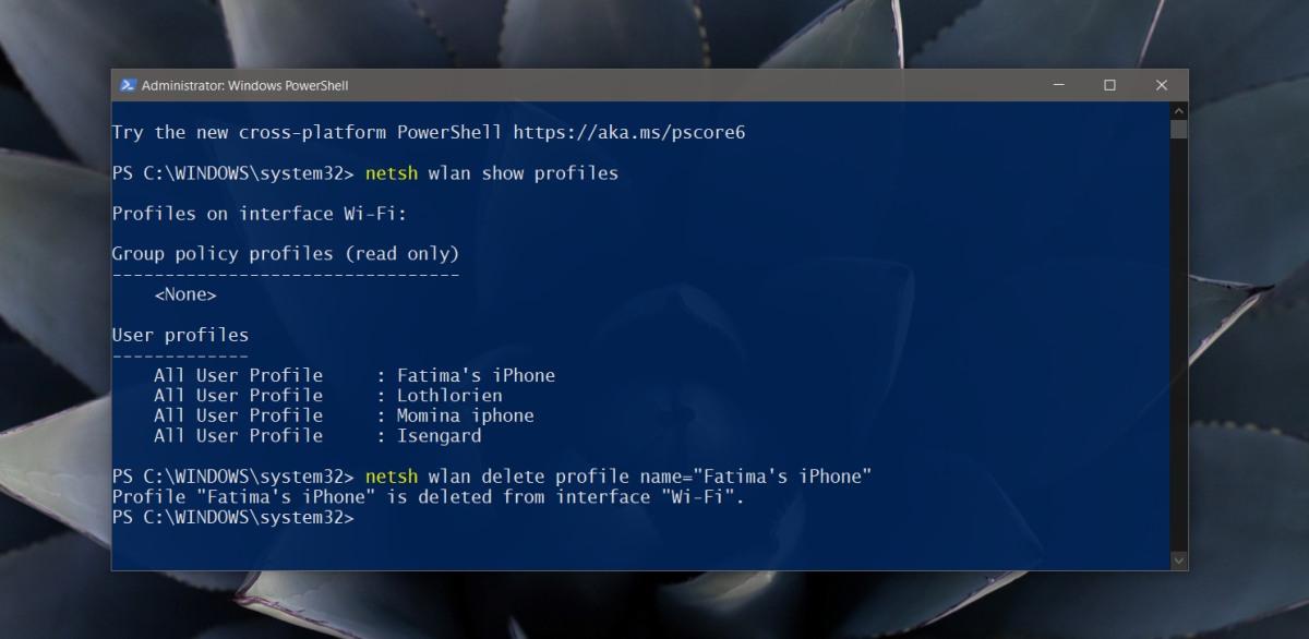 powershell-remove-wifi-network