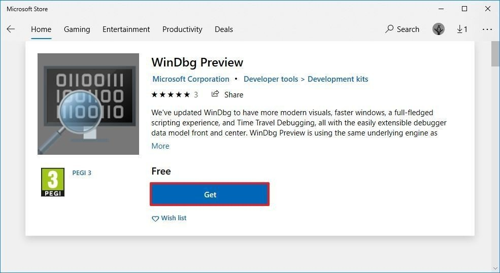 download-windbg-app-msstore