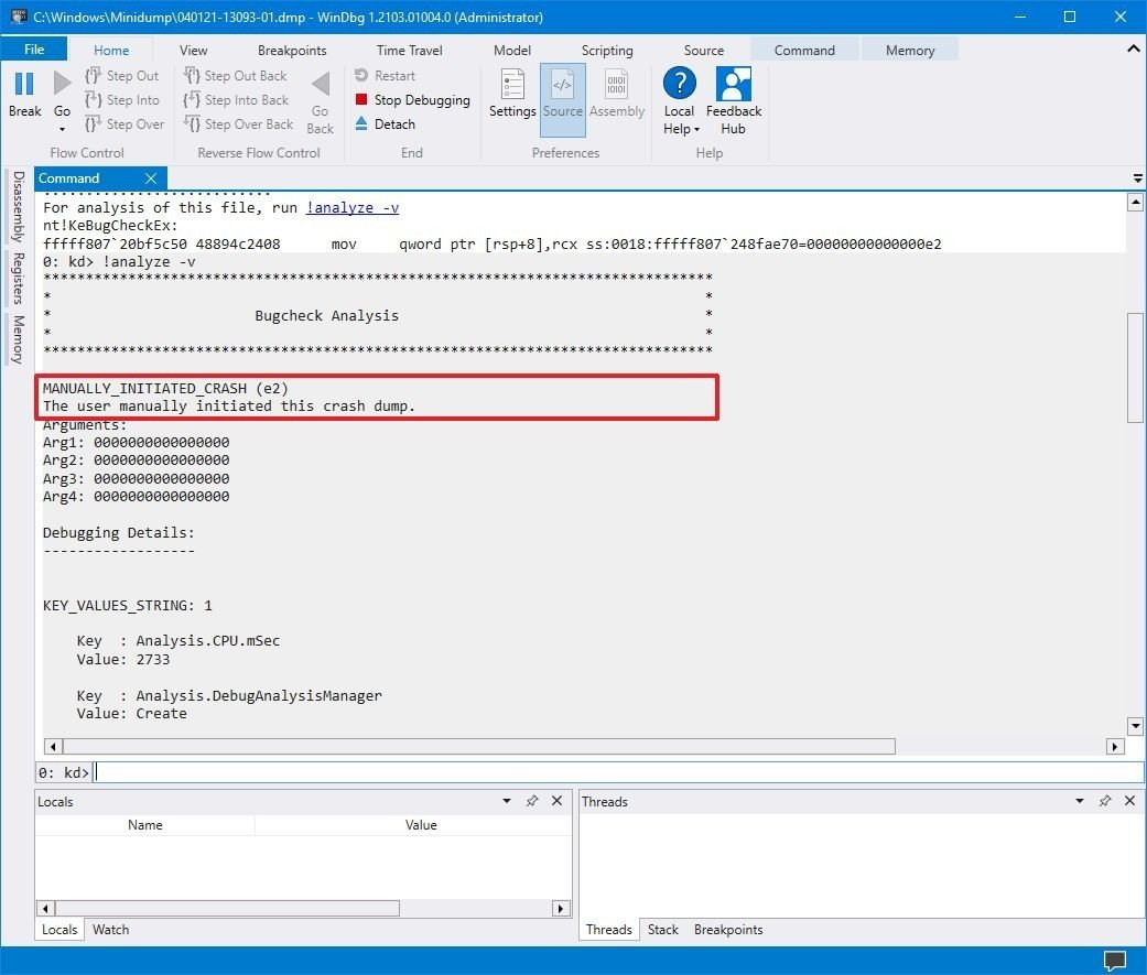 error-message-dump-file-windows10